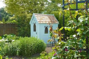 Gothic-style shed